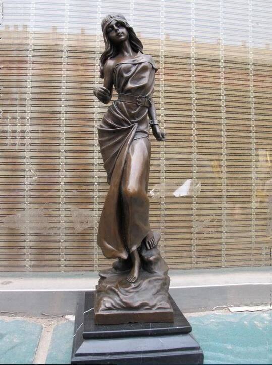 Bronze Sculpture Nude Woman Stretching Femme nue s etirant