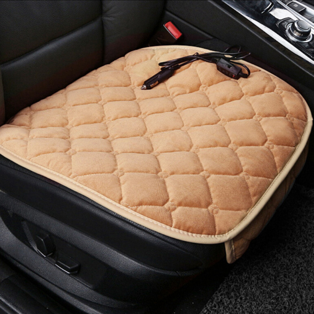 car heating cushion plush heater pad heating car warmer seat cushion electric heated massage. Black Bedroom Furniture Sets. Home Design Ideas