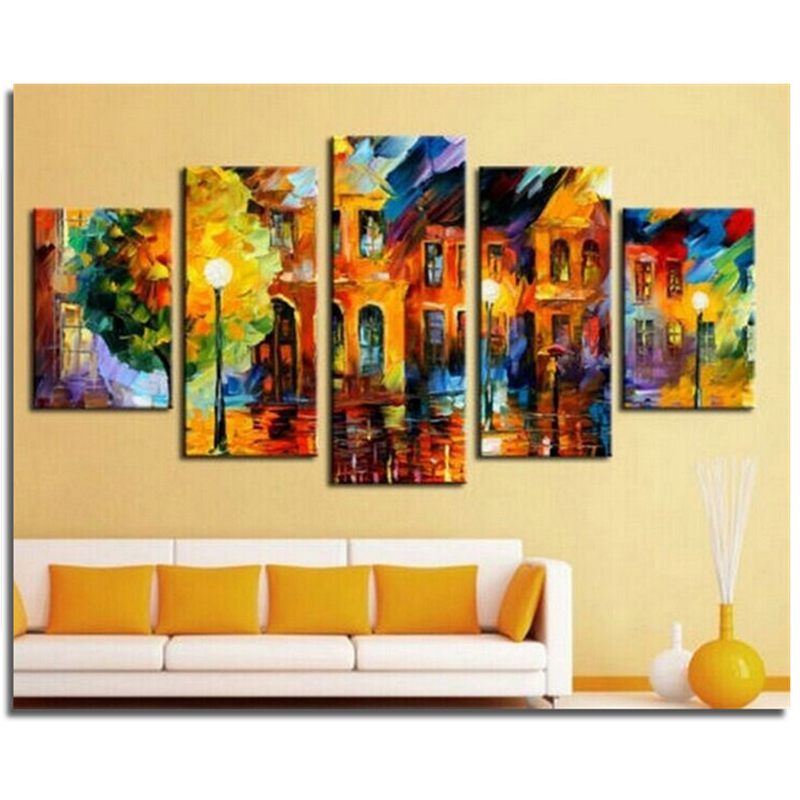 Scenery sets Diy diamond embroidery painting square drill full rhinestone pasted cross stitch sitting room decorative drawing