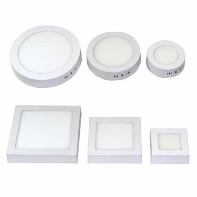 LED משטח תקרת אור 9 W 15 W 25 W תקרת מנורת AC85-265V נהג כלול עגול כיכר מקורה פנל אור עבור בית תפאורה