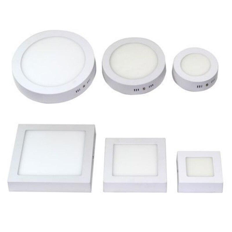 LED Oberfläche Decke Licht 9 W 15 W 25 W Decke Lampe AC85-265V Fahrer Enthalten Runde Platz Indoor Panel Licht für Wohnkultur