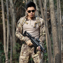 Outdoor Military Men's Multicam Camouflage Hunting Outfit Clothes Tactical Clothing Suit US Army CS Uniforms Male Training Suit(China)