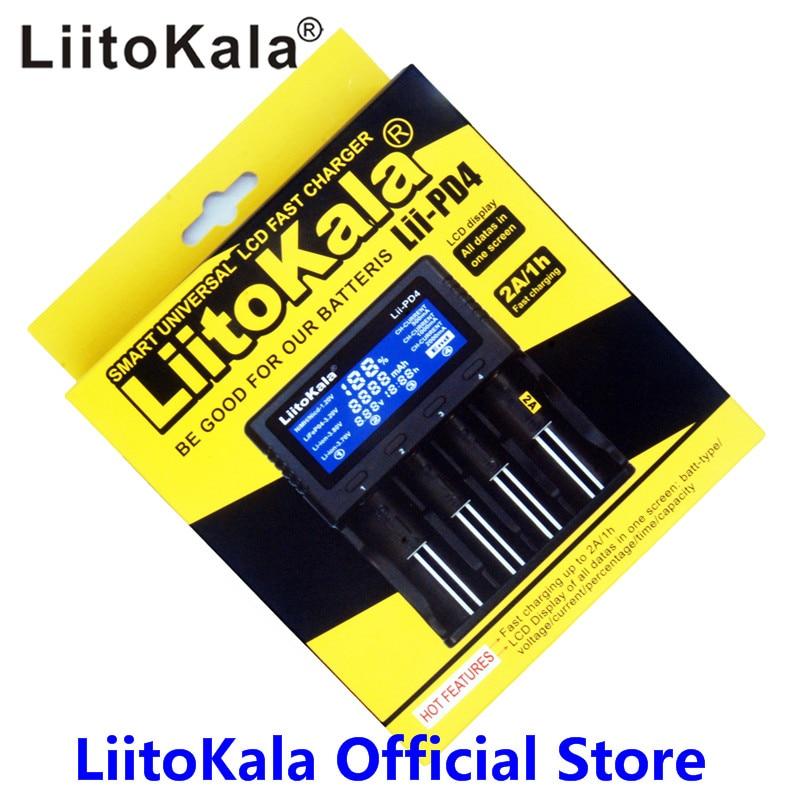 LiitoKala lii-PL4 lii100 lii-202 Lii-402 lii-500 lii-PD4 18650 Batterie Ladegerät Für 26650 16340 LiFePO4 1,2 v Rechareable Batterie