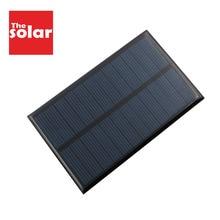 DIY Солнечная Панель 6 в 1 Вт портативный аккумулятор для сотового телефона Светодиодная лампа банк питания для мобильного телефона зарядные устройства солнечная батарея 6VDC