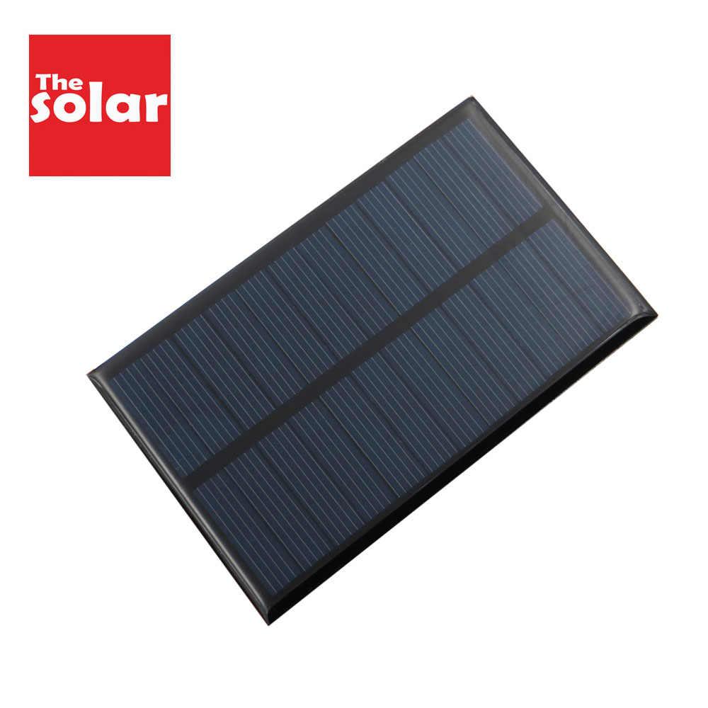 لتقوم بها بنفسك لوحة طاقة شمسية 6 فولت 1 واط واط بطارية نقالة هاتف محمول Led مصباح وحدة تخزين طاقة للهاتف المحمول شواحن الخلايا الشمسية 6VDC