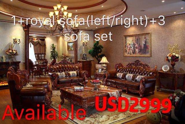Luxus Italienischen Rote Eiche Massivholz Leder Sofas Wohnzimmer Möbel Sets  Von China PRF3027