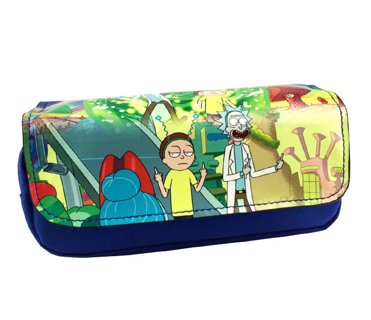 Gepäck & Taschen Ehrlich Kawaii Cartoon Rick Und Morty Geldbörse Studenten Kids Boy Mädchen Briefpapier Bleistift Taschen Reiseveranstalter Leder Reißverschluss Kosmetiktasche