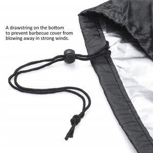 Image 3 - Cubiertas de Barbacoa a prueba de agua negras accesorios de Barbacoa de alta resistencia cubierta de la parrilla lluvia Barbacoa Anti polvo lluvia Gas carbón eléctrico Barbacoa