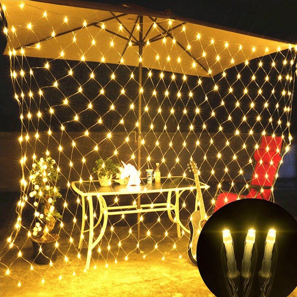LED Net Mesh String Light With Au/EU/US/UK Plug Christmas Waterproof Fairy Lights Lamp For Home Outdoor Lighting DecorationLED Net Mesh String Light With Au/EU/US/UK Plug Christmas Waterproof Fairy Lights Lamp For Home Outdoor Lighting Decoration
