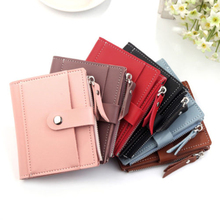 Folded Women PU Leather Wallet Girl Hasp Small Wallet Purse Tassels Mini Handbag Fashion Female Pink Purse Coin Purse Card Holde candy color coin purse for girls women high grade pu girl burst sell modern creative fashion waterproof small wallet key