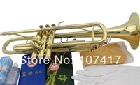 2017FREE Senior Bach Silver Plated Bach Trumpet LT180S 43 Small Brass Musical Instrument Trompeta Professional High Grade.