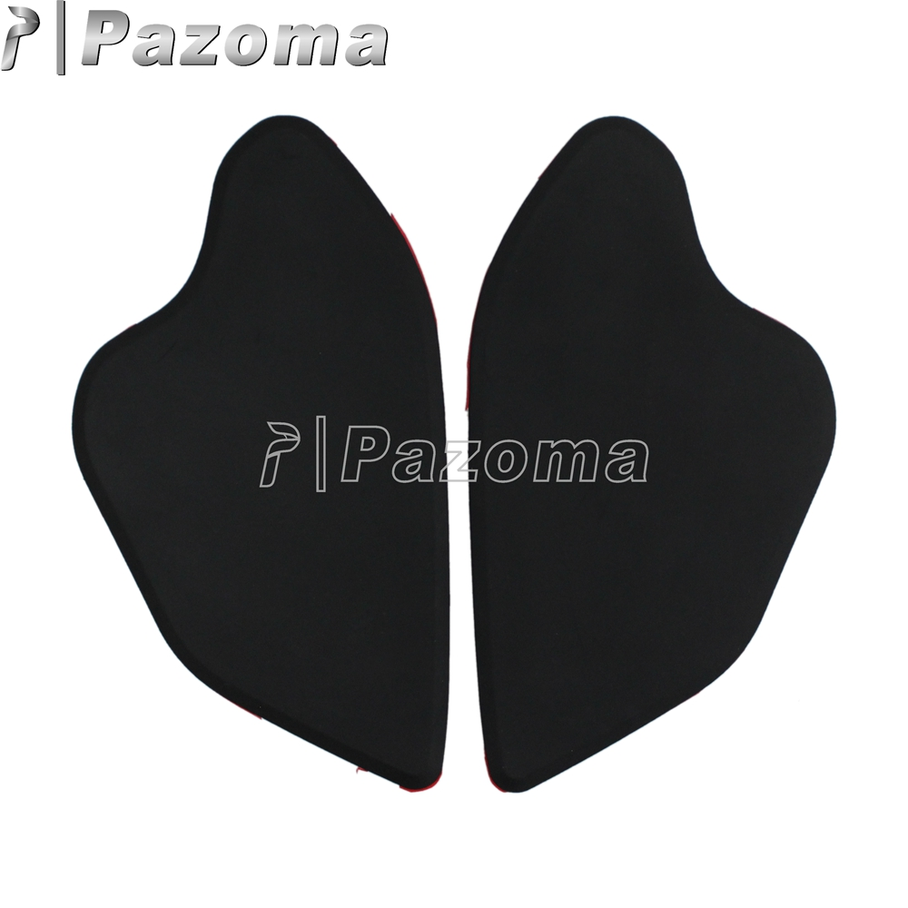 1 Paar Zwart Rubber Motorcycle Tank Tractie Pad Decal Side Gas Knee Stickers Voor Bmw R1200gs Lc 2013-2016