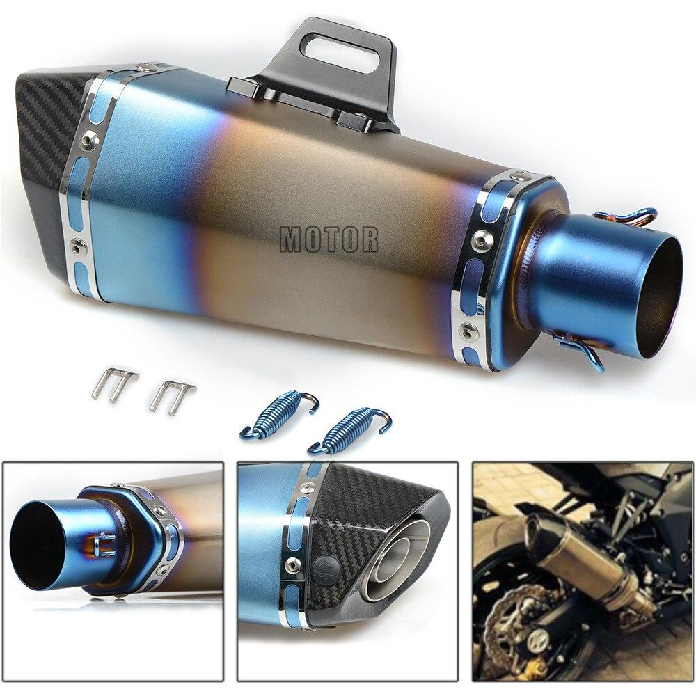 51 мм выхлопная труба Универсальный мотоцикл изменение муфельные выхлопной трубы хвост нержавеющая сталь для Ducati 1198 1198 S Corse SE 1198SP