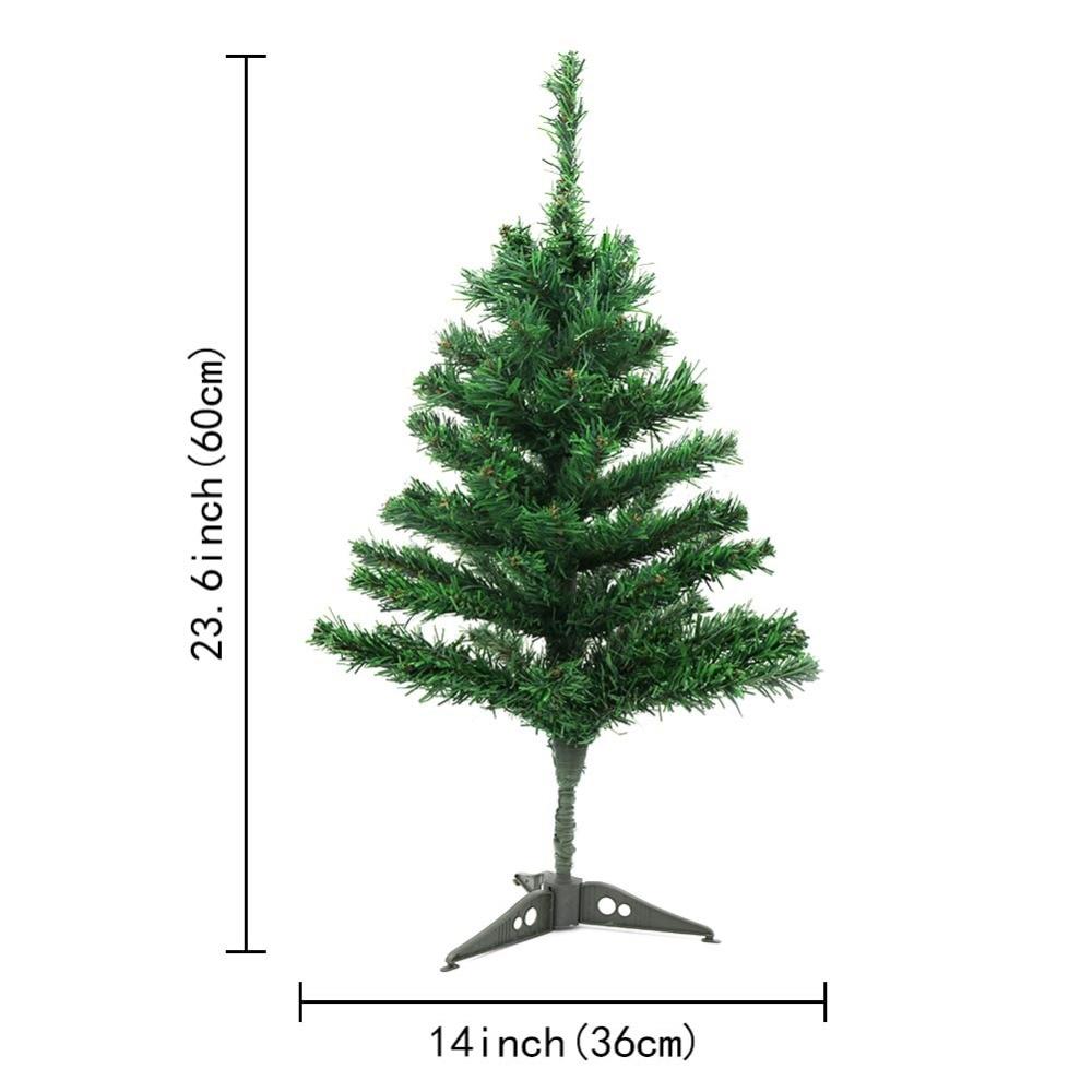 Ourwarm 60 Cm Pequeño árbol De Navidad Artificial Falso Pino árbol