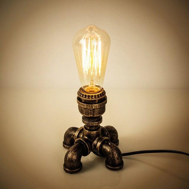 OYGROUP 철 테이블 램프 산업 버튼 스위치 책상 램프 홈 독서 램프 사무실 조명 OY17T11 EU