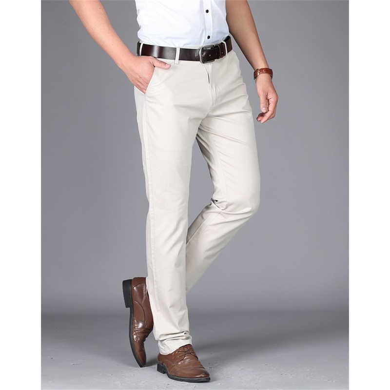2019 ชุดกางเกงผู้ชายกางเกงผู้ชายกางเกงสำนักงานลำลองกางเกงผู้ชายคลาสสิกกางเกง pantalones hombre TJWLKJ