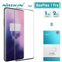 Oneplus 7 pro 7 t pro 유리 용 nillkin cp + max full cover oneplus 7 pro nilkin 유리 필름 용 3d 강화 유리 스크린 보호기