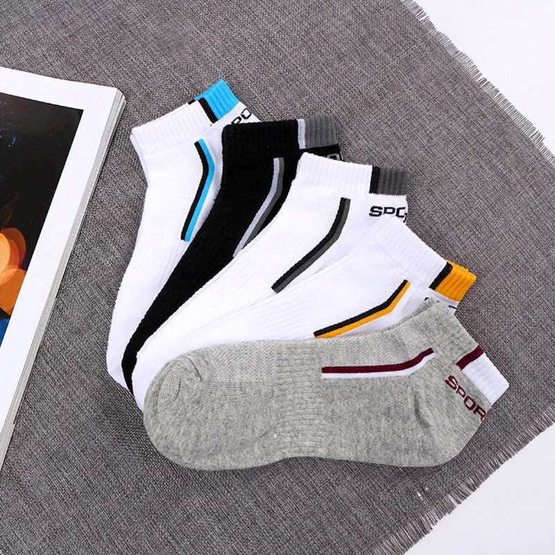 Men Socks Stretchy Shaping Teenagers Short Cotton Sock High Quality Socks Summer Non-slip Durable Male Socks Hosiery