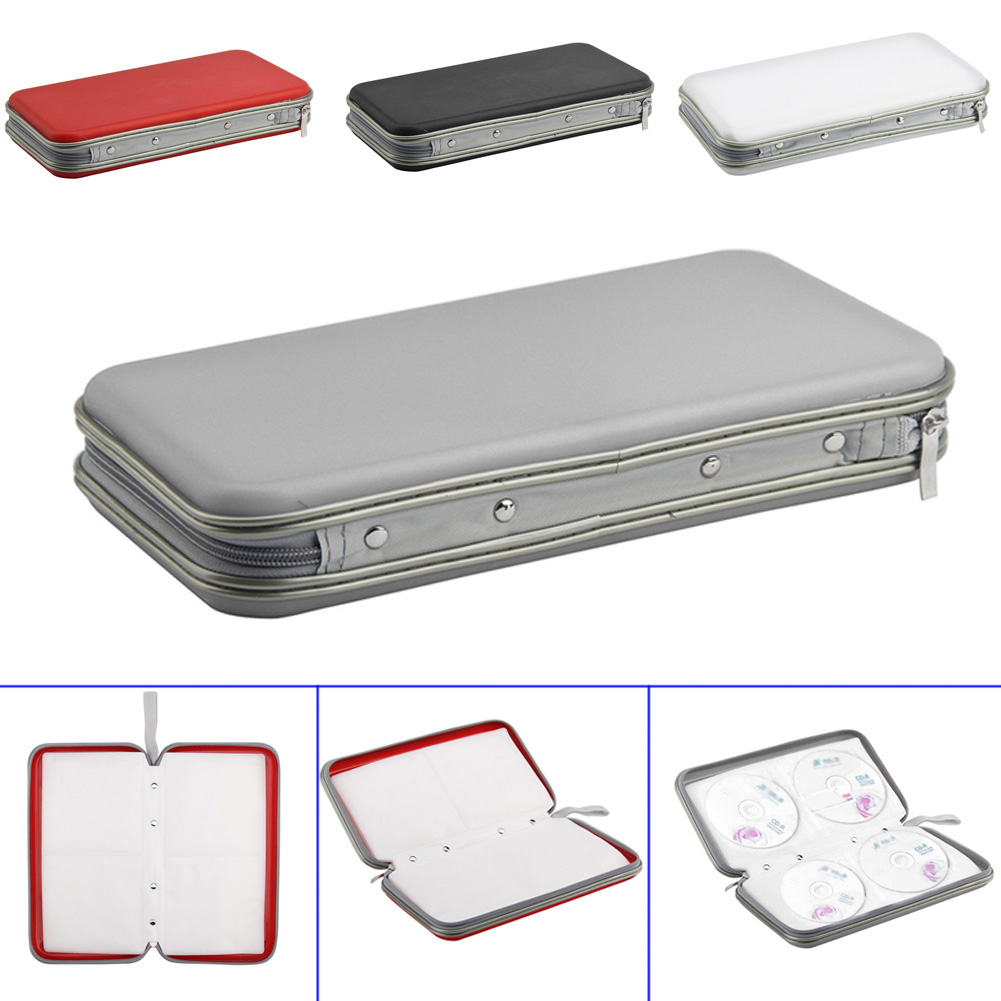 80 Pcs Disc Portable Organizer CD DVD VCD DJ Storage Case Zipper Wallet Album Bag Hot Sale