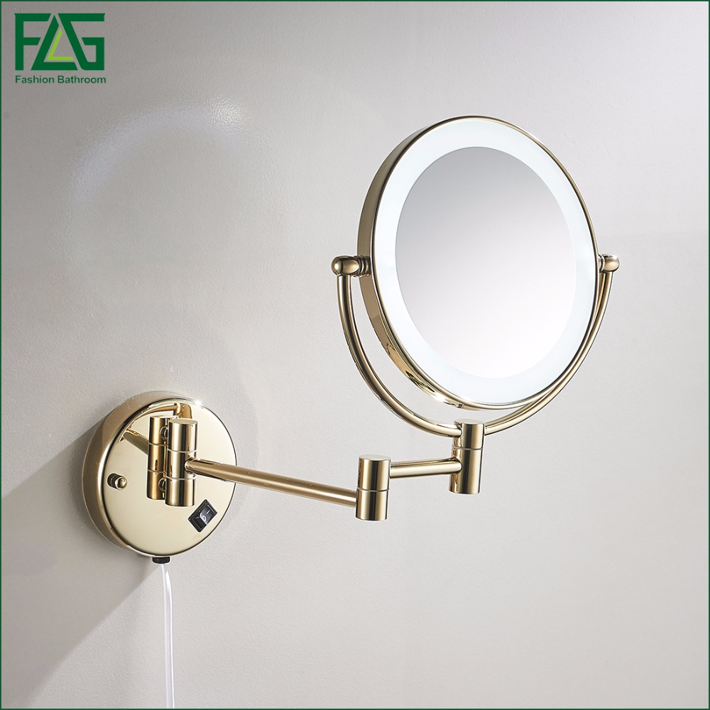 Bathroom Accessories Led Makeup Mirrors 8 Wall Mounted Round 3x 1x Magnifying Cosmetic Mirror