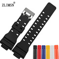Watchbands Black Watch Strap Matte Silicone Stainless Steel Clasp For CASIO Rubber Driving Sport Watch Relogio Masculino CAS03