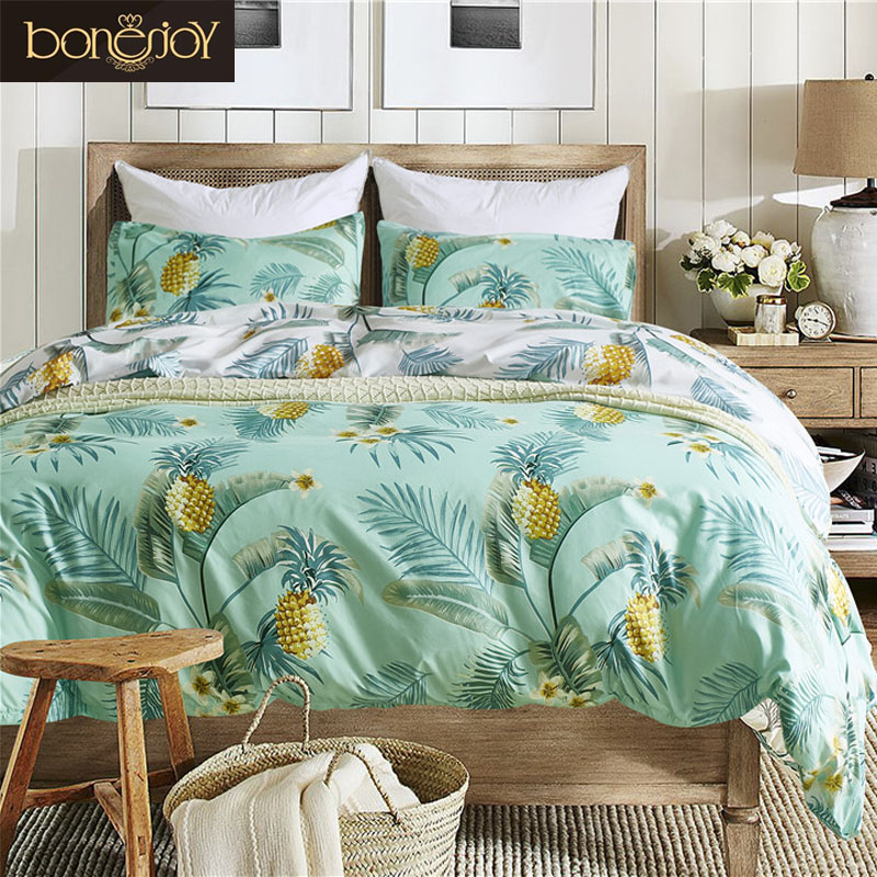 bonenjoy pineapple bedding set queen king size for adult duvet cover twin housse de couette. Black Bedroom Furniture Sets. Home Design Ideas