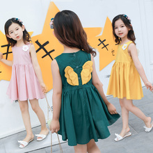 купить Baby Girls Dress Unicorn Angel Wings Summer Clothes 2019 Brand Cotton Princess Girls Clothing Costume Kids Party Dresses 2-8T дешево