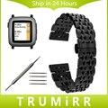 22mm Stainless Steel Watch Band + Tool for Pebble Time / Steel LG G Watch Urbane W150 Butterfly Buckle Strap Wrist Belt Bracelet