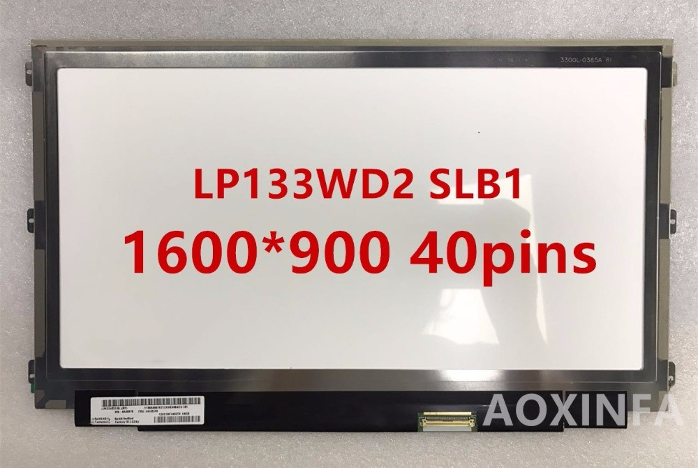 free shipping13.3 LP133WD2 SLB1 for Lenovo IdeaPad Yoga 13 IPS Wide View angle Panel LCD Display Screen Matrix Digitizer original new 3 2 inch lcd display screen for wintek wd f3248v5 7flwa wd f3248v5 lcd display panel free shipping