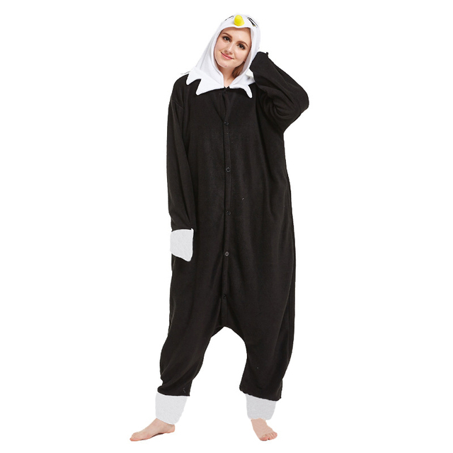 7a4f29a17092 Animal Adult Pajamas Set Cosplay Costume Kigurumi Onesie Women Men Onepiece  Overall Pijama Animal Black Eagle