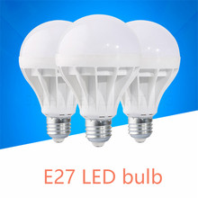 Venta al por mayor E27 lámpara de LED 110V 220V 3w 5w 7w 9w 12w 15w 20w bombilla LED bombilla led bombilla de luz leve bulbo Bombillas de luz lámpara LED Bombillas(China)