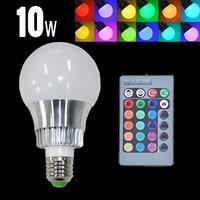 E27 10 W RGB LED הנורה מנורת אור 220 v 110 V ניתן לעמעום קסם Lampada 16 צבע RGB שינוי צבעים חג מולד אור עם שלט IR