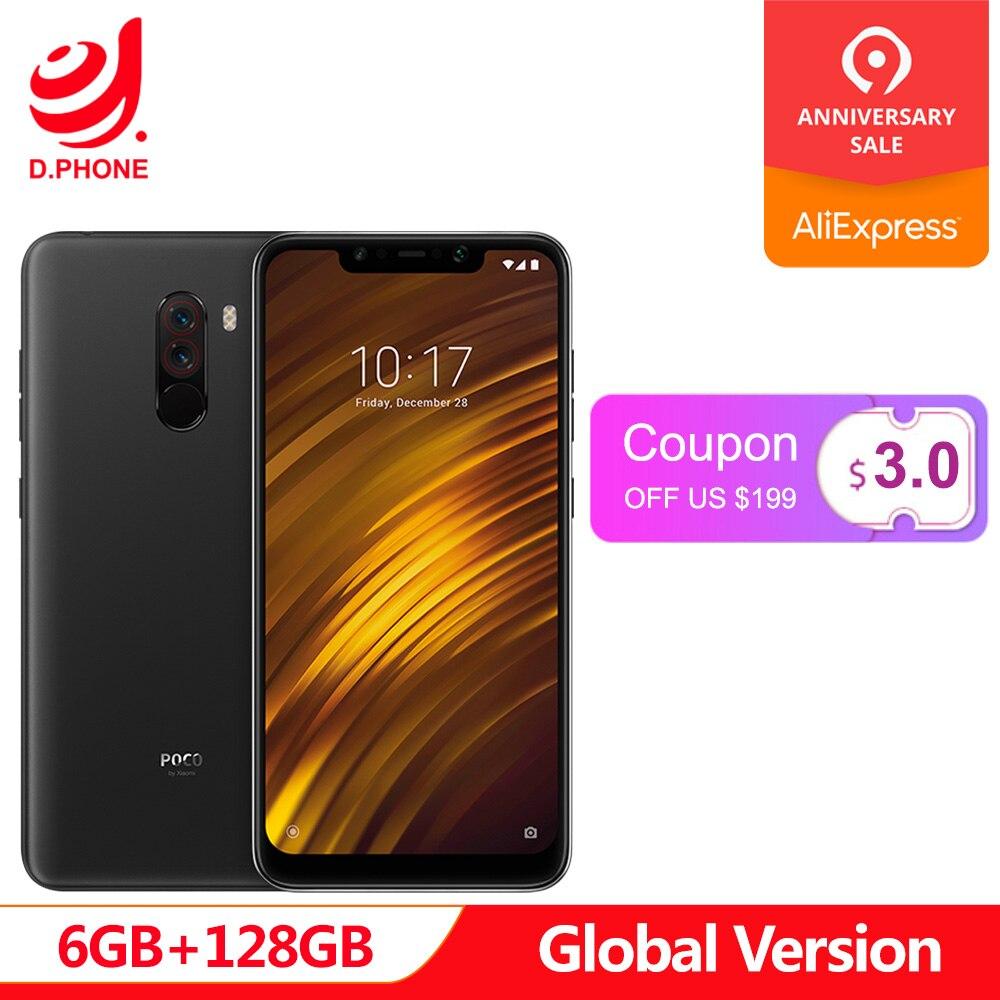 Global Versão Xiaomi POCOPHONE F1 POCO F1 6 GB de Ram 128 GB Rom Snapdragon 845 6.18