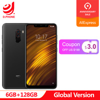 Global Version Xiaomi POCOPHONE F1 POCO F1 6GB Ram 128GB Rom Snapdragon 845 6.18 Full Screen AI Dual Camera LiquidCool 4000mAh