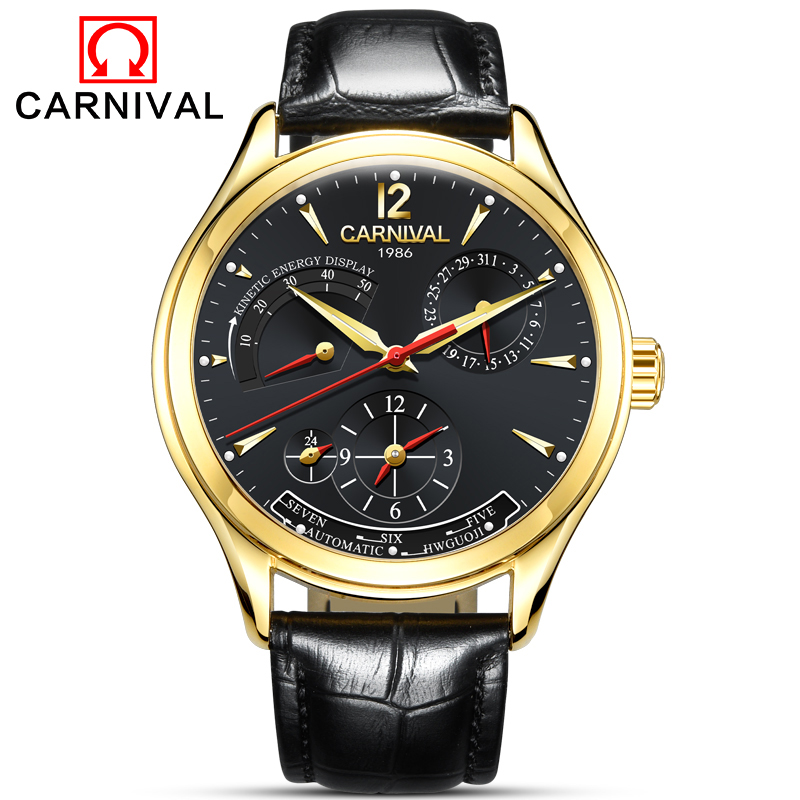 все цены на 2018 New Luxury Men Automatic Mechanical Watches Unique Design Style Energy Display Business Sapphire Watch relogio masculino