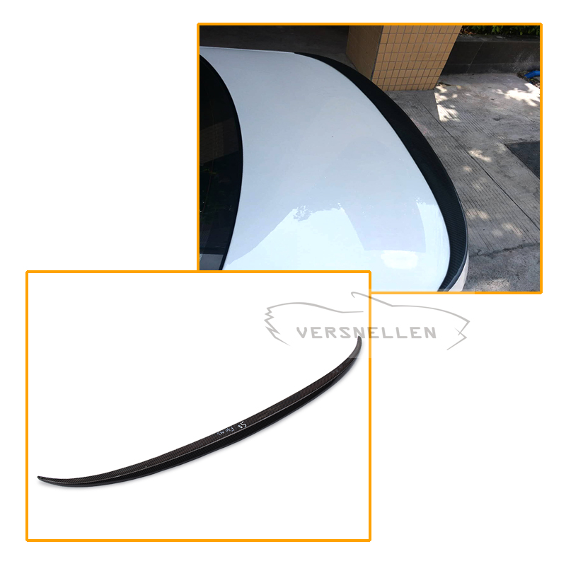 M3 Style For BMW F30 F80 M3 Spoiler Carbon Fiber Material 2012 - up 320i 328i 335i 326D F30 Carbon Fiber carbon firber frp rear diffuser lip spoiler protector exterior for bmw f30 m sport bumper 2012 2017 single exhaust two outlet