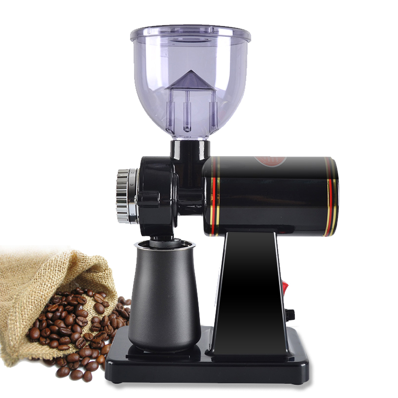 Electric Coffee Grinder 600N Coffee Mill Machine CB Coffee Bean Grinder Machine Flat Burr Grinding With 220V 110V 100W Red Black