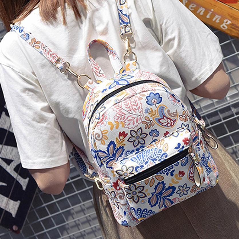 Backpack female Backpacks Women Flower backpack School Bag Shoulder Teenage Girls Leather Escolar Feminina Mochila 2018New Gifts