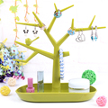 Multifunctional Tree Branch Shape Jewelry Display Shelf Earring Bracelet Holder Necklace Organizer Ring Display Stand Shelf Case