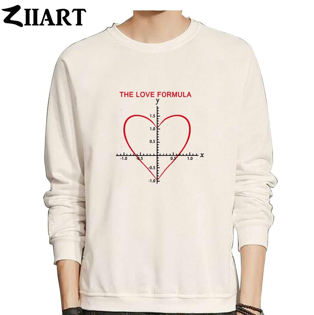 Cinta Rumus Persamaan Matematika untuk Jantung Pasangan Pakaian Gadis Kapas Wanita Musim Gugur Musim Dingin Bulu Sweatshirt