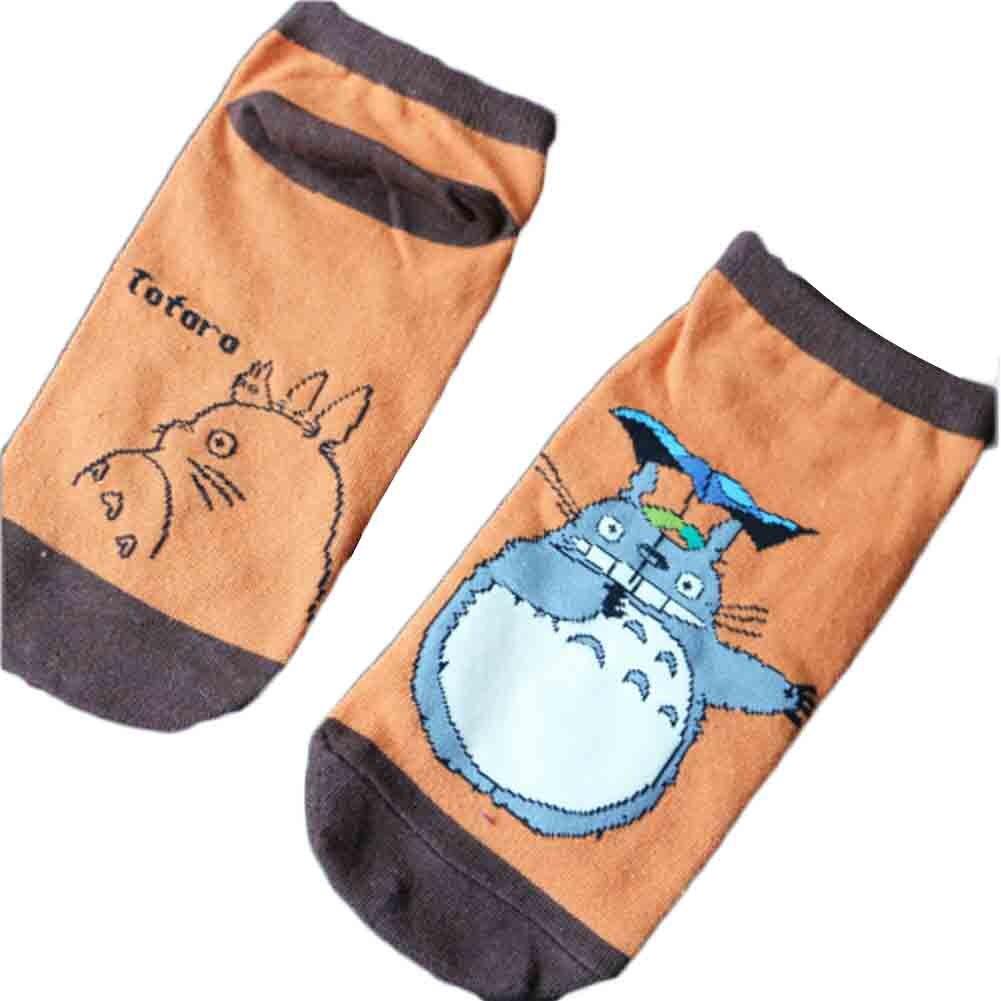 Giraffita New Totoro Cartoon Cotton Socks Slippers Boat Slippers For Women Short Tube  Tube Socks Skateboard Lady Free Shipping