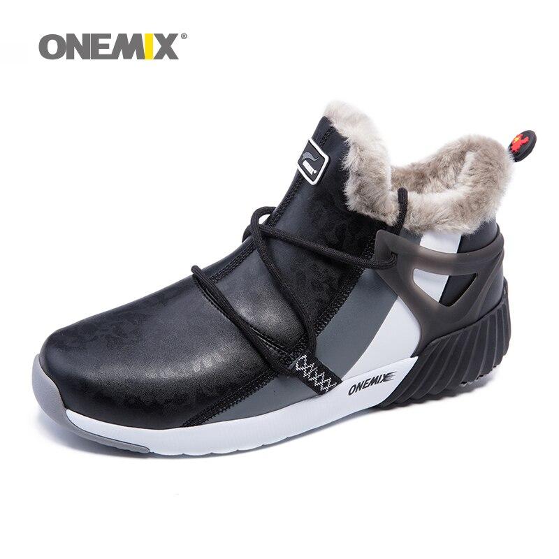 ONEMIX dei Nuovi Uomini di Inverno Stivali Caldi di Lana scarpe Da Tennis All'aperto Unisex Scarpe Da Ginnastica di Sport Comodo Runningg Scarpe formato di Vendita 36- 46