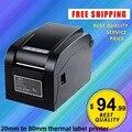 XP-350B 20mm ~ 80mm Térmica Directa impresora de código de barras de la impresora térmica de códigos de barras Impresora de Etiquetas de código de Barras USB cáscara de separación función