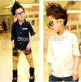 2-7Y Child Kid Boys Long Sleeve Arrow Printed Casual Shirt Lapel Tops Blouse