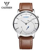 2018 CADISEN Quartz Men Watch Leather Fashion Large Dial Military Sport watches High Quality Clock Wristwatch Relogio Masculino Quartz Watches