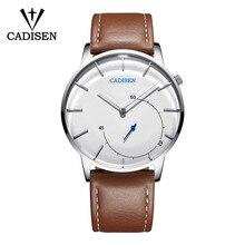2018 CADISEN Quartz Men Watch Leather Fashion Large Dial Military Sport watches High Quality Clock Wristwatch Relogio Masculino