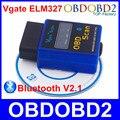 High Quality Vgate ELM327 V2.1 OBD Scan Tool Mini ELM 327 Bluetooth OBD2 Diagnostic Code Reader Multi Brand Cars 12 Languages