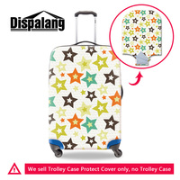 Dispalang colorful star print strech elastic trunk case dust covers with zipper waterproof luggage cover for 18-30 inch suitcase