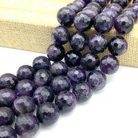 Buona Qualità di Pietra Branello Allentato di Cristallo di Colore Viola Pietra Allentati Rotondi Sfaccettato 16mm Branello DIY, 24 beads a stringa/piece