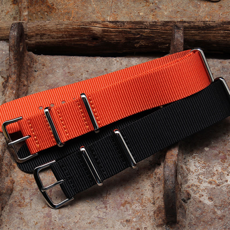 NATO Watchband Nylon Watch Strap Black Red Brown 18mm 20mm 22mm Striped Replacement Watch Band Accessories Watchbands Strap Band